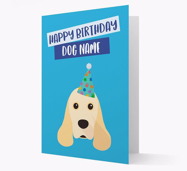 Personalised 'Happy Birthday Your Dog' Card with Cocker Spaniel Icon