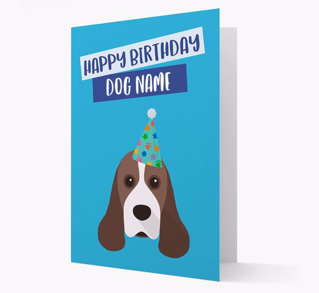 Personalized 'Happy Birthday Your Dog' Card with Cocker Spaniel Icon