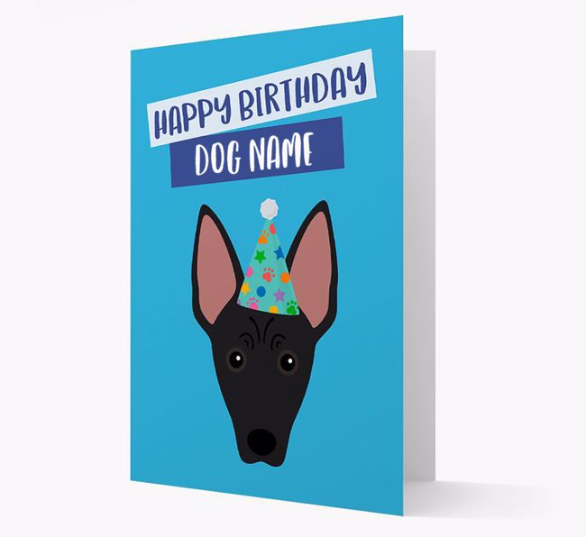 Personalized 'Happy Birthday Your Dog' Card with American Hairless Icon