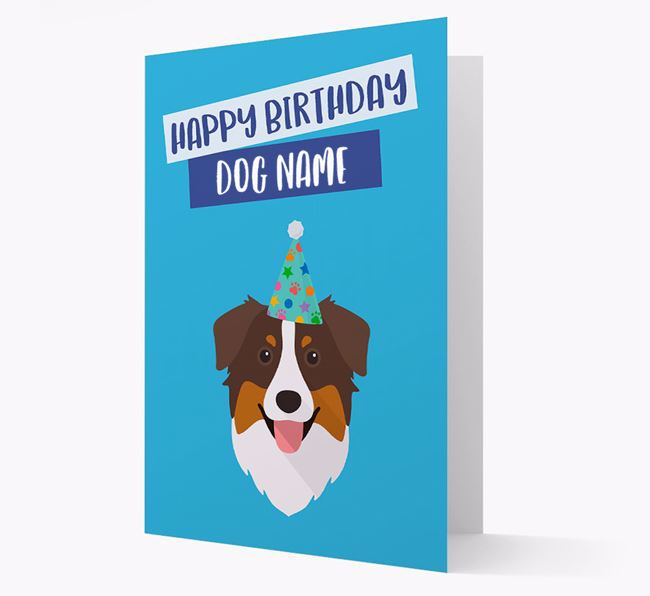 Personalized 'Happy Birthday Your Dog' Card with Aussie Shepherd Icon