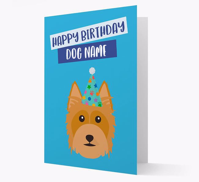 Personalized 'Happy Birthday Your Dog' Card with Silky Terrier Icon