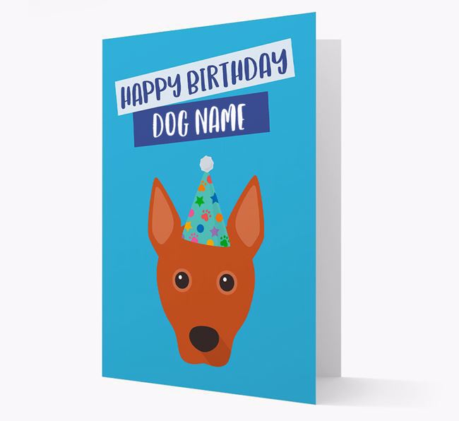 Personalized 'Happy Birthday Your Dog' Card with Basenji Icon