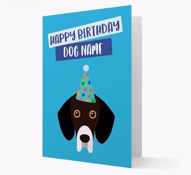 Personalised 'Happy Birthday Your Dog' Card with Bassador Icon