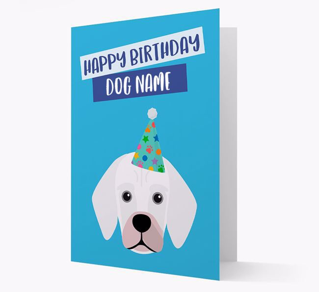 Personalised 'Happy Birthday Your Dog' Card with Bassugg Icon
