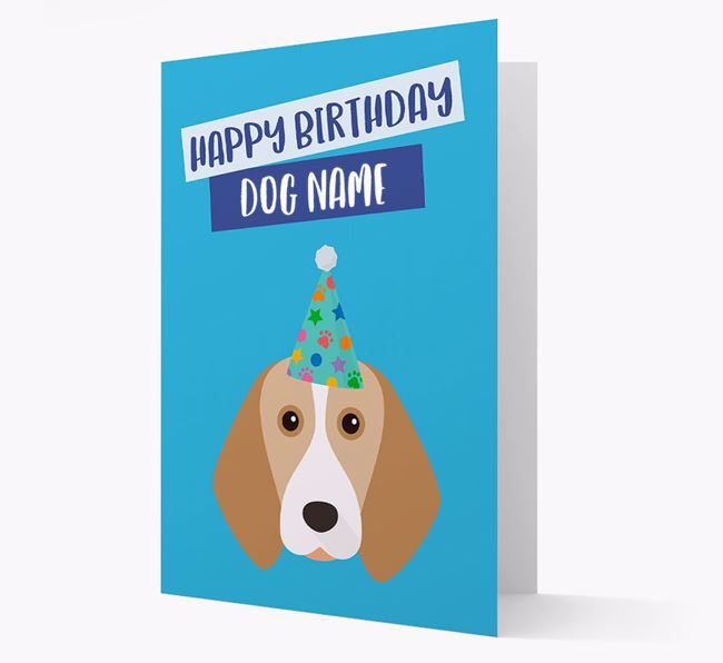 Personalized 'Happy Birthday Your Dog' Card with Beagle Icon