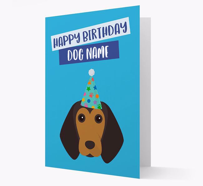 Personalised 'Happy Birthday Your Dog' Card with Beagle Icon