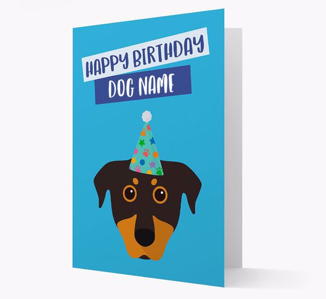 Personalized 'Happy Birthday Your Dog' Card with Beauceron Icon