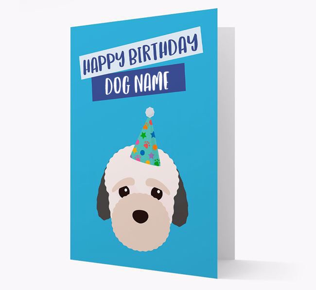 Personalized 'Happy Birthday Your Dog' Card with Bich-poo Icon