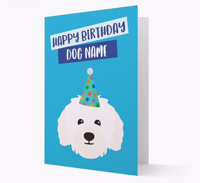 Personalised 'Happy Birthday Your Dog' Card with Bolognese Icon