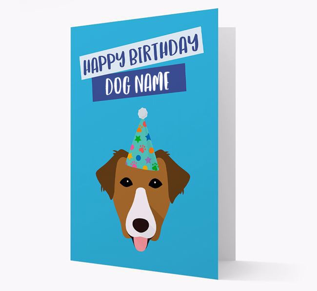 Personalized 'Happy Birthday Your Dog' Card with Borador Icon