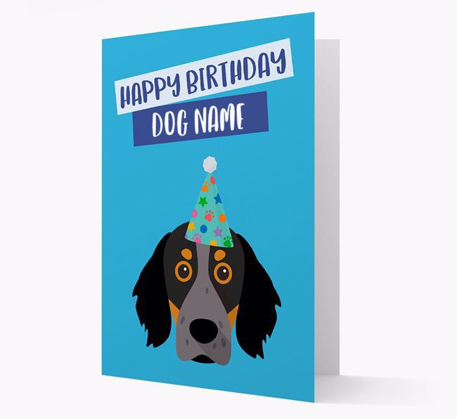 Personalised 'Happy Birthday Your Dog' Card with Brittany Spaniel Icon