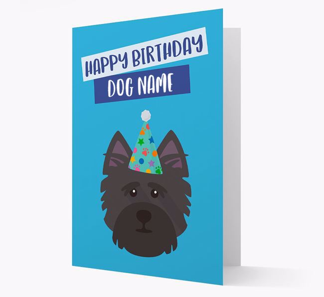 Personalized 'Happy Birthday Your Dog' Card with Cairn Terrier Icon