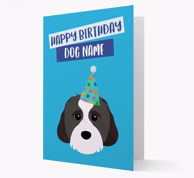 Personalised 'Happy Birthday Your Dog' Card with Cavachon Icon