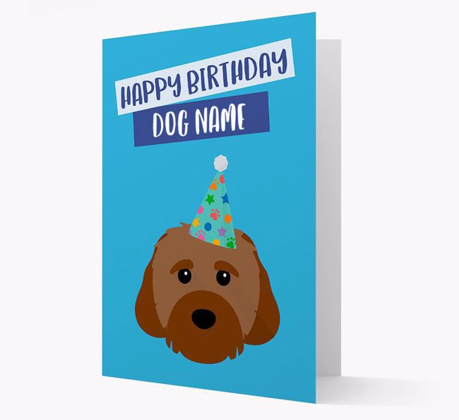 Personalized 'Happy Birthday Your Dog' Card with Cavachon Icon
