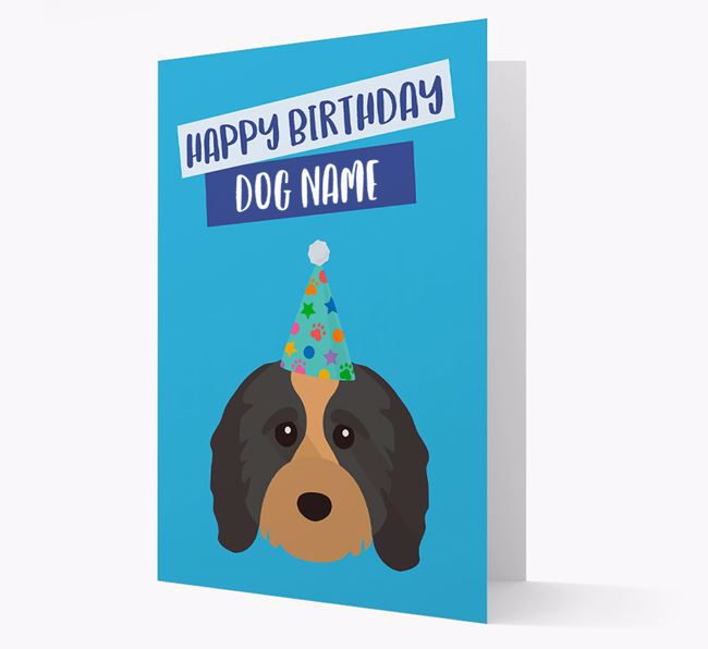 Personalized 'Happy Birthday Your Dog' Card with Cavapoo Icon