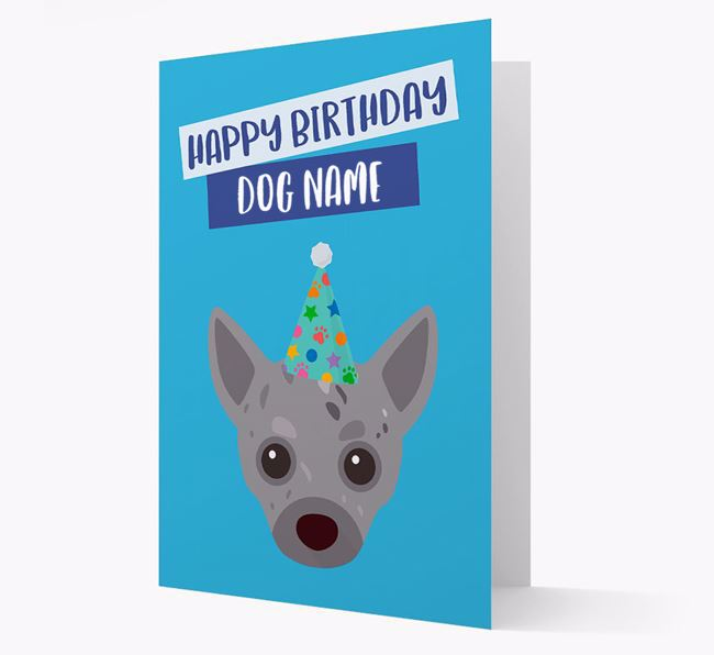 Personalised 'Happy Birthday Your Dog' Card with Chihuahua Icon