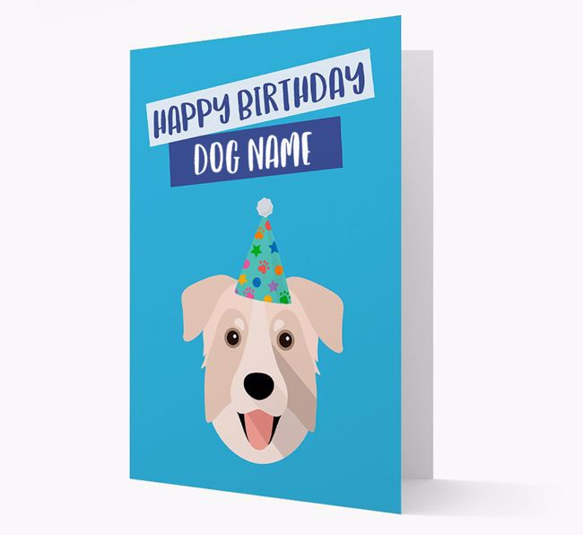Personalized 'Happy Birthday Your Dog' Card with Chinook Icon
