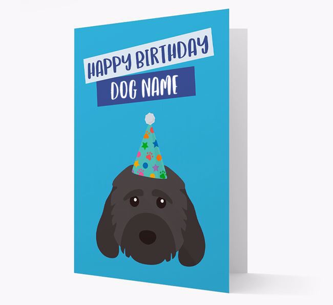 Personalized 'Happy Birthday Your Dog' Card with Cockapoo Icon