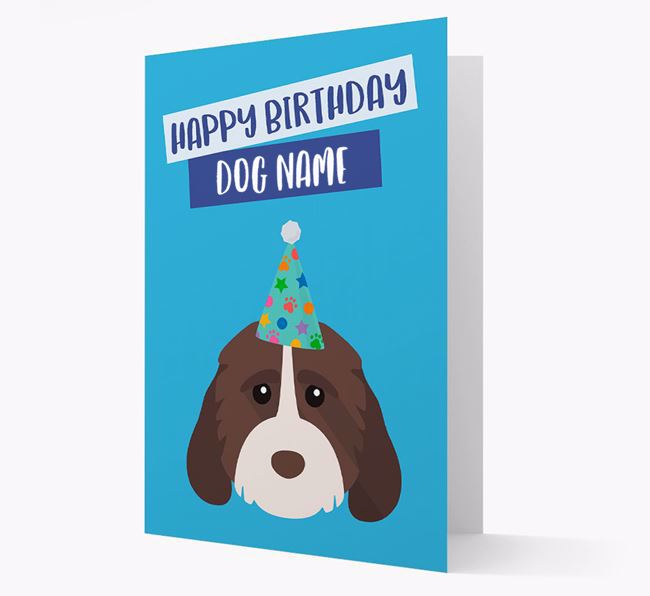 Personalised 'Happy Birthday Your Dog' Card with Cockapoo Icon
