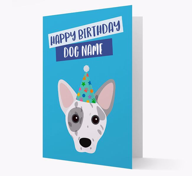 Personalised 'Happy Birthday Your Dog' Card with Cojack Icon