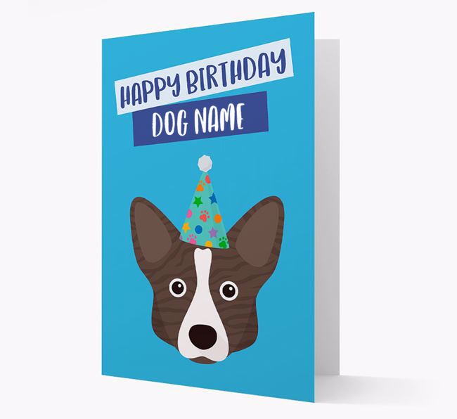 Personalised 'Happy Birthday Your Dog' Card with Corgi Icon