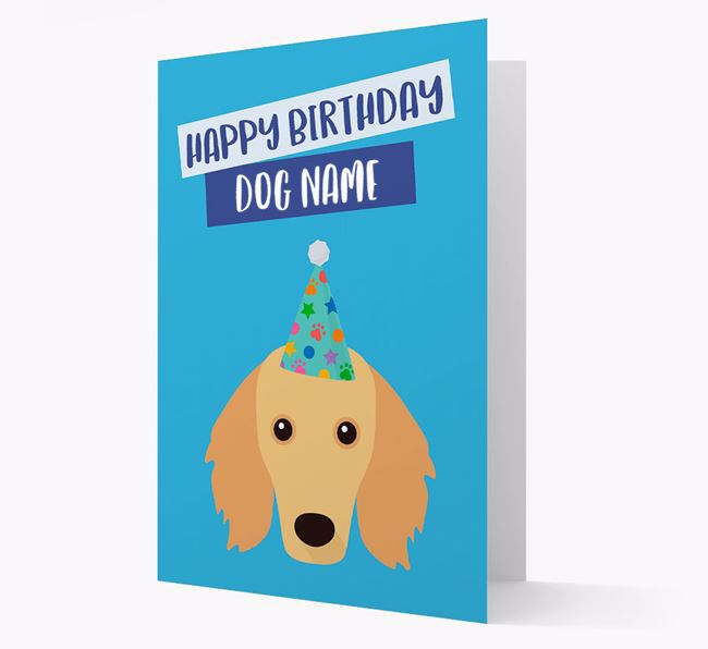 Personalized 'Happy Birthday Your Dog' Card with Dachshund Icon