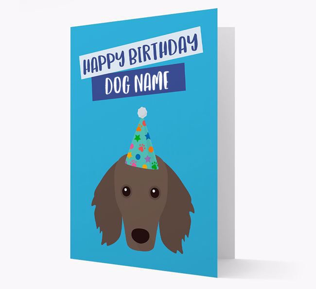 Personalised 'Happy Birthday Your Dog' Card with Dachshund Icon