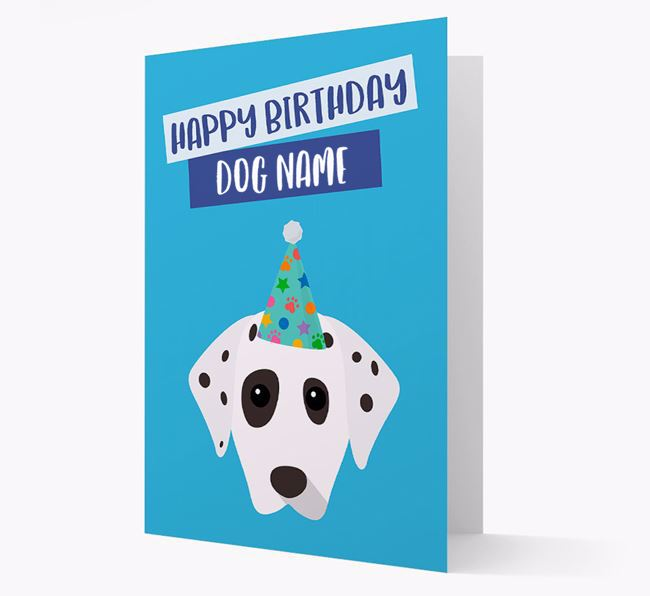 Personalised 'Happy Birthday Your Dog' Card with Dalmatian Icon