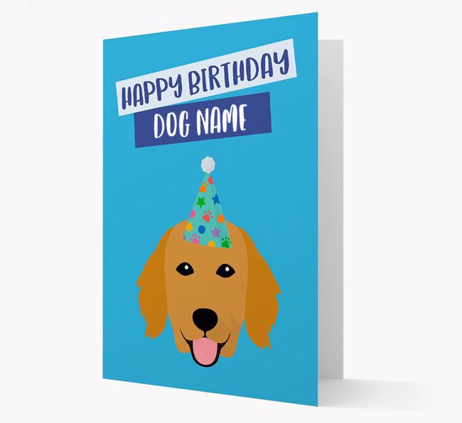 Personalized 'Happy Birthday Your Dog' Card with Flatcoat Icon