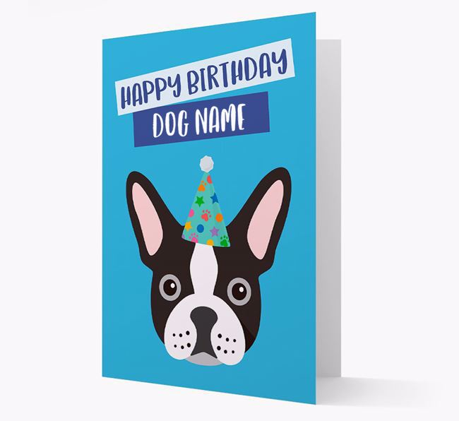 Personalized 'Happy Birthday Your Dog' Card with Frenchie Icon