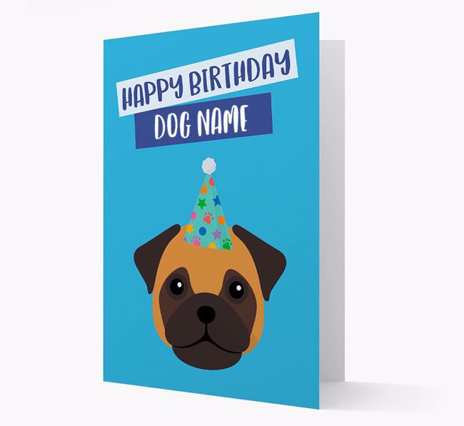 Personalized 'Happy Birthday Your Dog' Card with Frug Icon