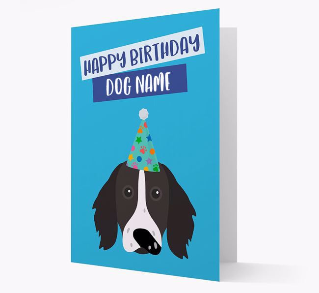 Personalized 'Happy Birthday Your Dog' Card with Longhaired Pointer Icon
