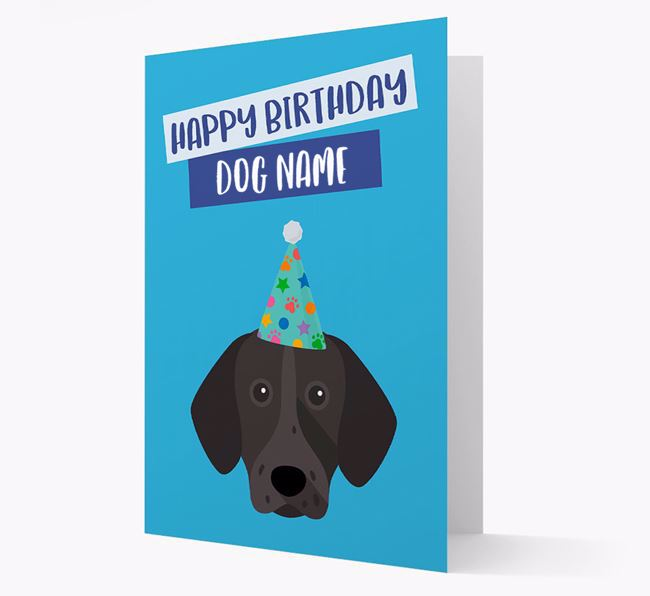 Personalized 'Happy Birthday Your Dog' Card with Shorthaired Pointer Icon