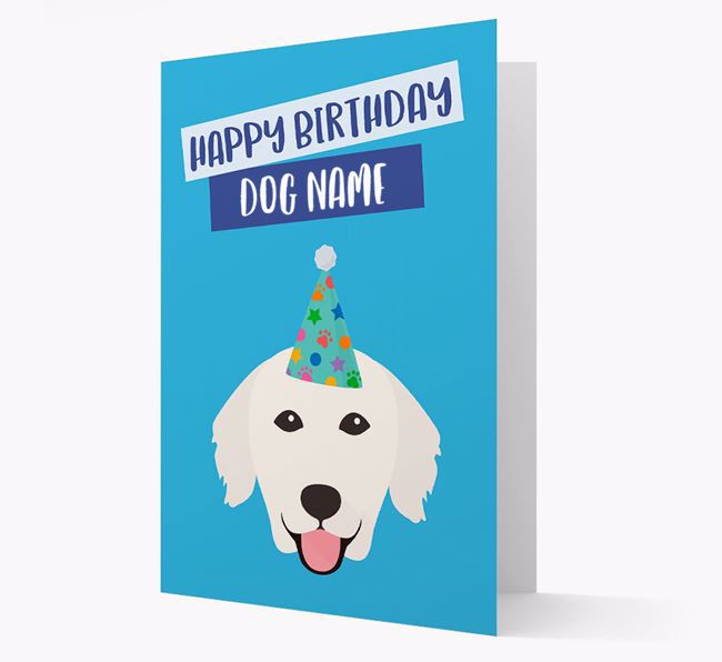 Personalised 'Happy Birthday Your Dog' Card with Golden Retriever Icon