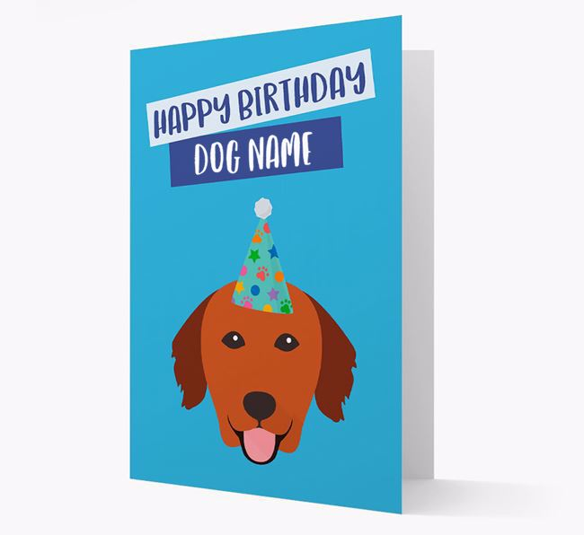 Personalized 'Happy Birthday Your Dog' Card with Golden Retriever Icon