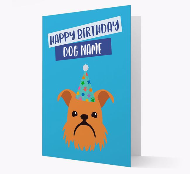 Personalized 'Happy Birthday Your Dog' Card with Brussels Griffon Icon