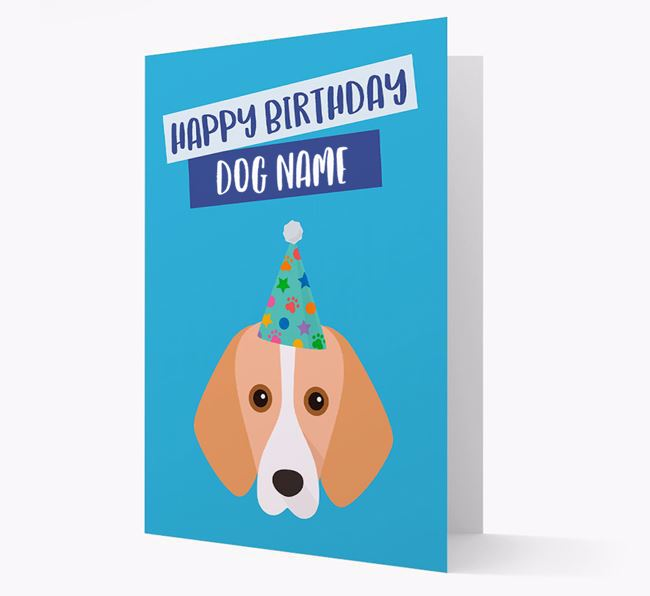 Personalized 'Happy Birthday Your Dog' Card with Harrier Icon