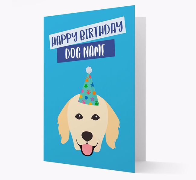 Personalized 'Happy Birthday Your Dog' Card with Hovawart Icon