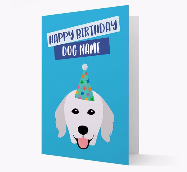 Personalized 'Happy Birthday Your Dog' Card with Kuvasz Icon