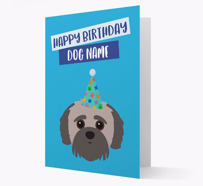 Personalised 'Happy Birthday Your Dog' Card with Jack-a-Poo Icon