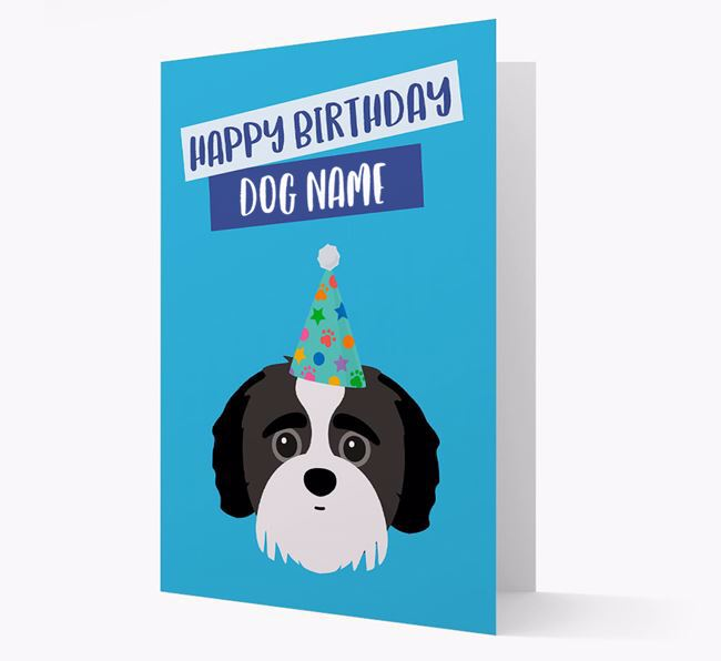 Personalized 'Happy Birthday Your Dog' Card with Jack-a-Poo Icon