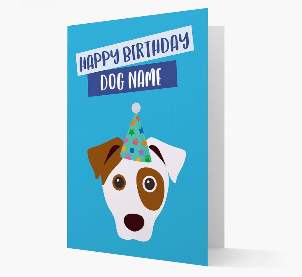Personalized Card 'Happy Birthday {dogsName}' with Dog Icon
