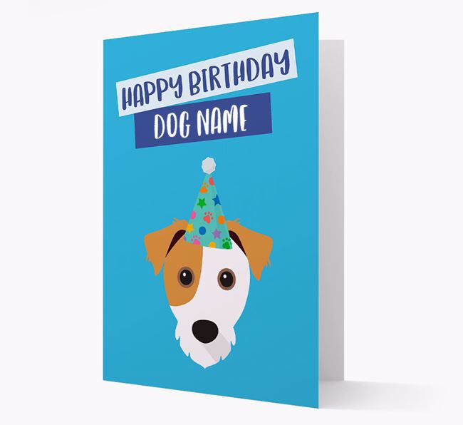 Personalized 'Happy Birthday Your Dog' Card with Jack Russell Icon