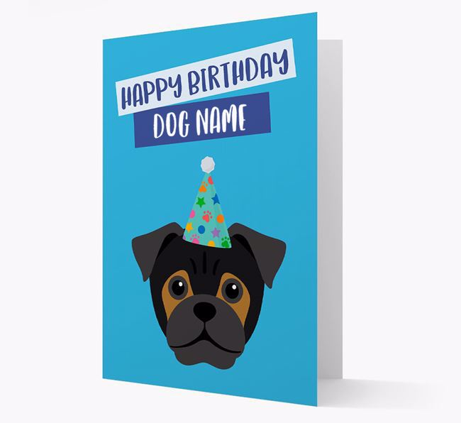 Personalized 'Happy Birthday Your Dog' Card with Jug Icon