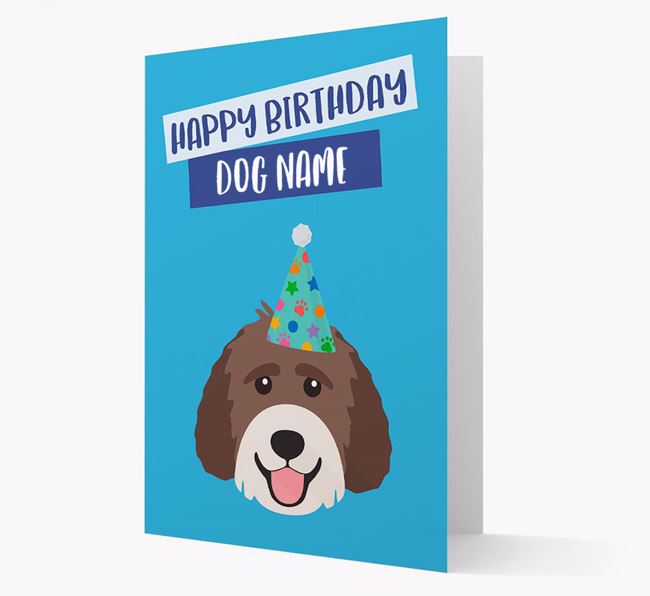 Personalised 'Happy Birthday Your Dog' Card with Labradoodle Icon