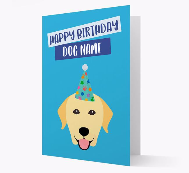 Personalized 'Happy Birthday Your Dog' Card with Labrador Icon