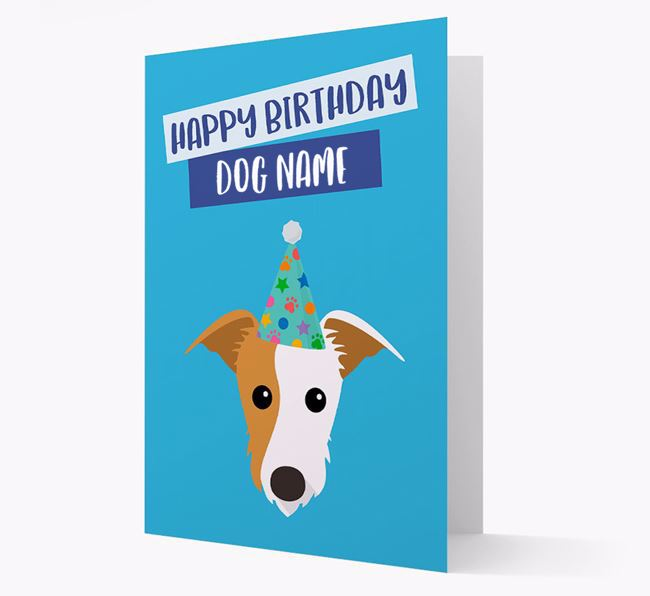 Personalized 'Happy Birthday Your Dog' Card with Lurcher Icon