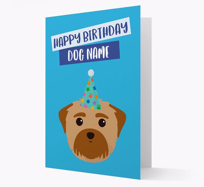 Personalized 'Happy Birthday Your Dog' Card with Maltese Icon