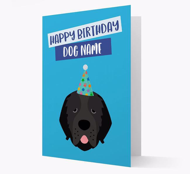 Personalized 'Happy Birthday Your Dog' Card with Newfoundland Icon