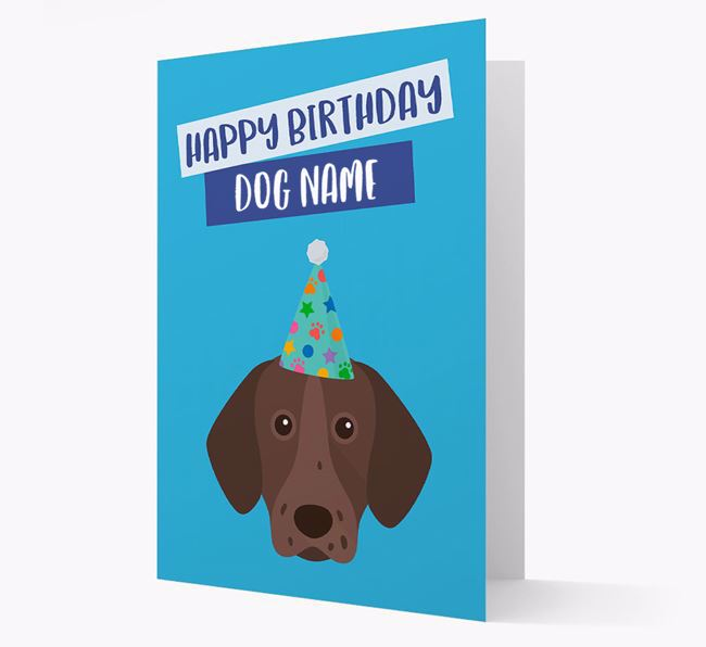 Personalized 'Happy Birthday Your Dog' Card with Pointer Icon